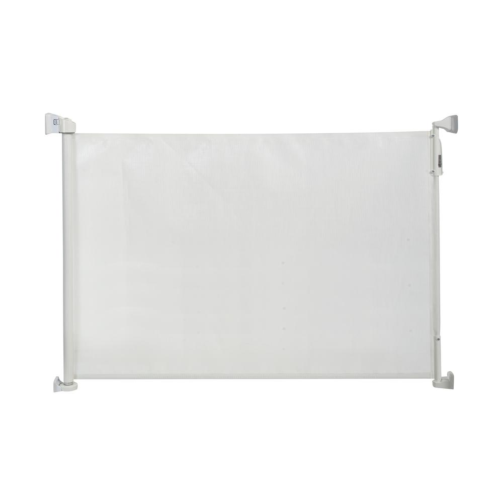 Kidco 33 5 in h wall mounted gate retractable safeway for Retractable wall for home