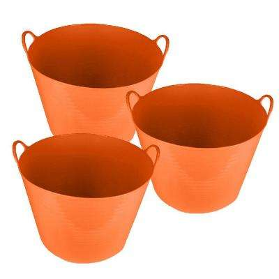 26 Qt. Storage Tote in Orange (3-Pack)