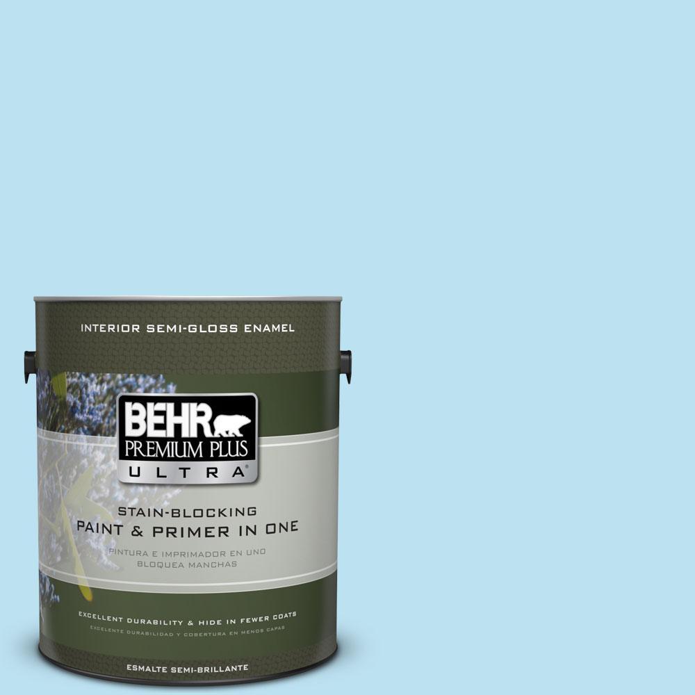 1 gal. #530A-2 Skylark Semi-Gloss Enamel Interior Paint and Primer in