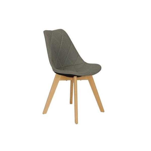 DHP Barry Gray Linen Dining Chair