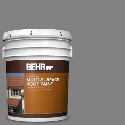 5 gal. #RP-34 Deep Gray Flat Multi-Surface Exterior Roof Paint