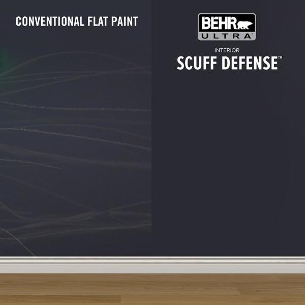 Reviews For Behr Ultra 5 Gal T18 19 Quiet Time Extra Durable Satin Enamel Interior Paint Primer 775005 The Home Depot