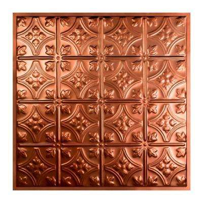 Hamilton 2 ft. x 2 ft. Lay-in Tin Ceiling Tile in Vintage Bronze