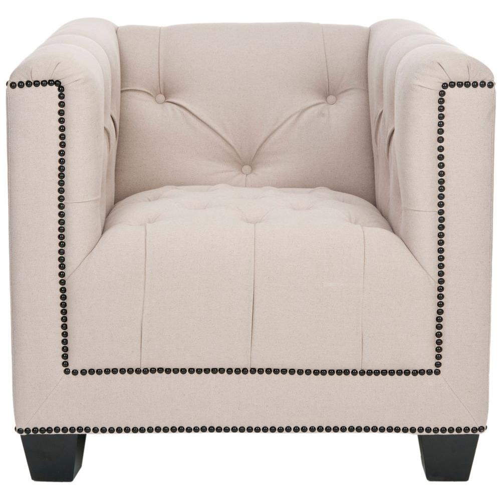 Bentley Taupe Linen Club Arm Chair