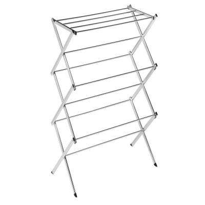 Free Standing Collapsible Drying Racks Laundry Room Storage
