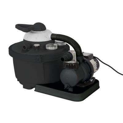 1/2 HP Sand Filter Pump System for Above Ground Pools with Multiport Valve 16 in. 35 lb. up to 2,100 GPH