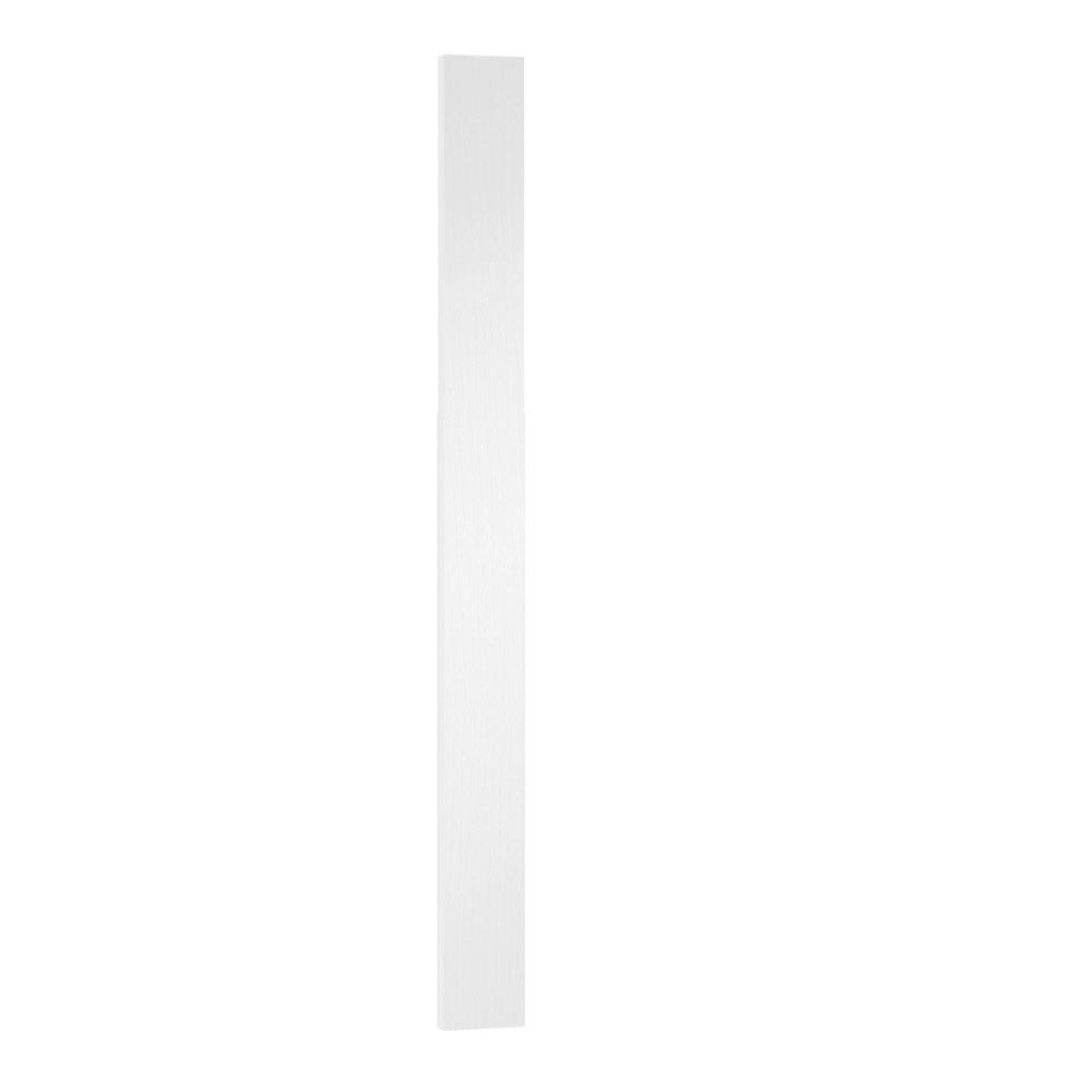 WeatherStrong 3 in. x 40.5 in. x 0.75 in. Cabinet Filler for Outdoor Kitchen Cabinetry in Radiant White