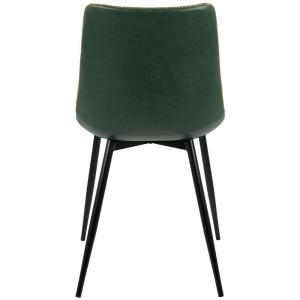 c3377d473a3e0 +3. Lumisource Black and Green Durango Vintage Faux Leather Dining Chair ...