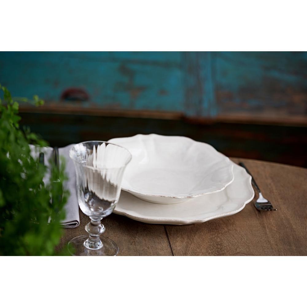 Impressions White Dinner Plate (Set of 6)