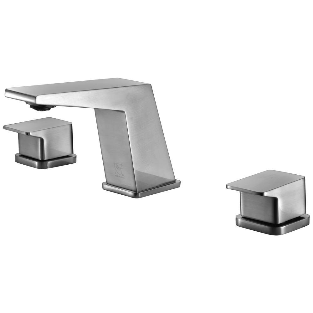 8 in. Widespread 2-Handle Luxury Bathroom Faucet in Brushed Nickel