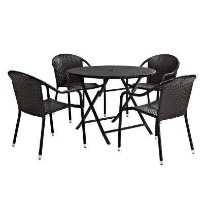 Palm Harbor 5-Piece Wicker Outdoor Dining Set