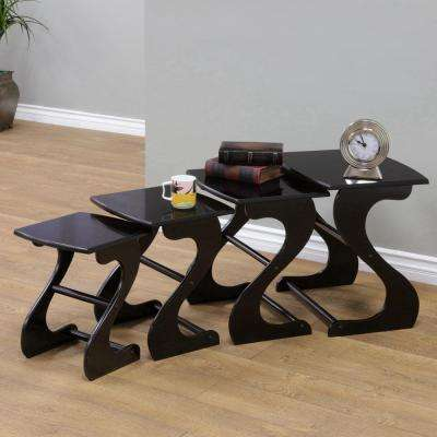 Espresso 4-Piece Nesting End Table