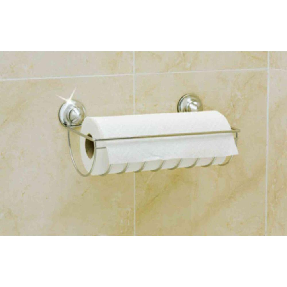 EverLoc Paper Towel Holder in Chrome with Suction Cups-DISCONTINUED