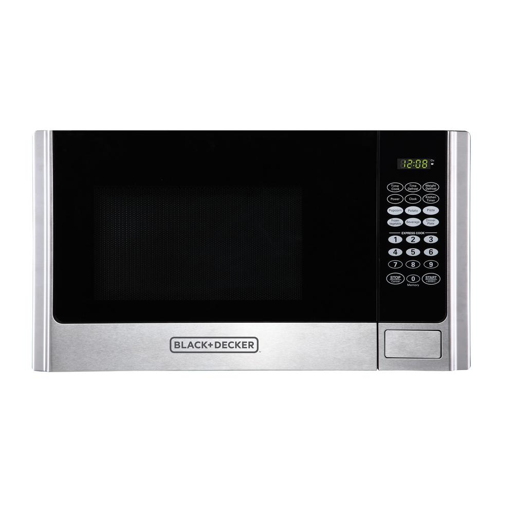 BLACK+DECKER 0.9 cu. ft. Countertop Digital Microwave in Stainless Steel