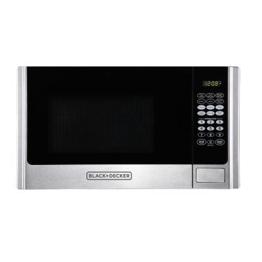 0.9 cu. ft. Countertop Digital Microwave in Stainless Steel