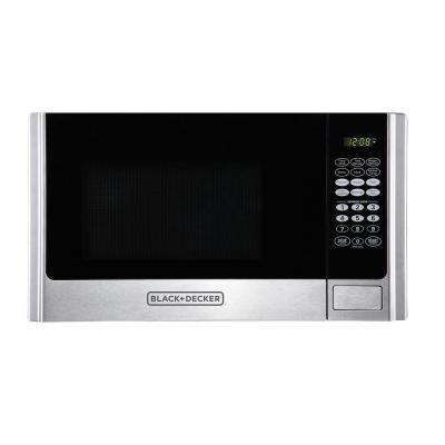 0.9 cu. ft. Countertop Digital Microwave in Stainless Steel