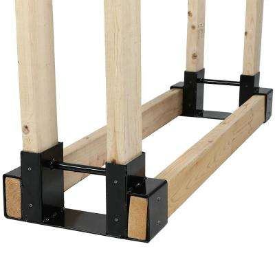 Steel Firewood Log Rack Bracket Kit - Adjustable to Any Length