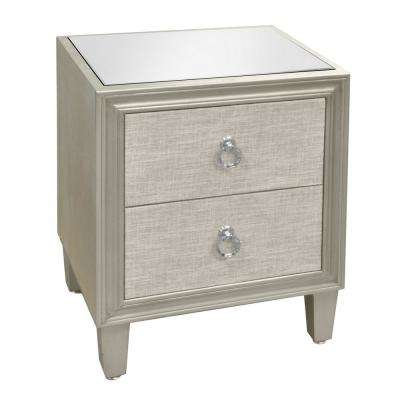 25 in. Champagne Cabinet with 2-Drawers
