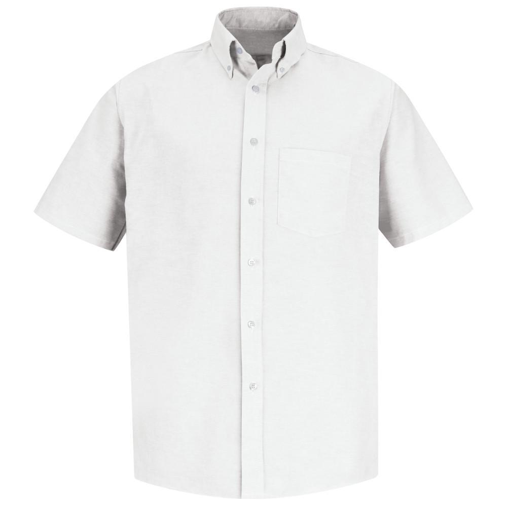 Men's Size 21.5 White Executive Oxford Dress Shirt