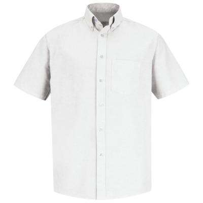 Men's Size 21.5 (Tall) White Executive Oxford Dress Shirt