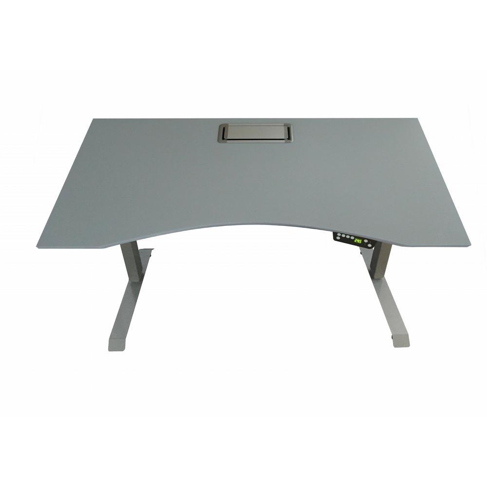 Canary Grey Adjustable Height Desk
