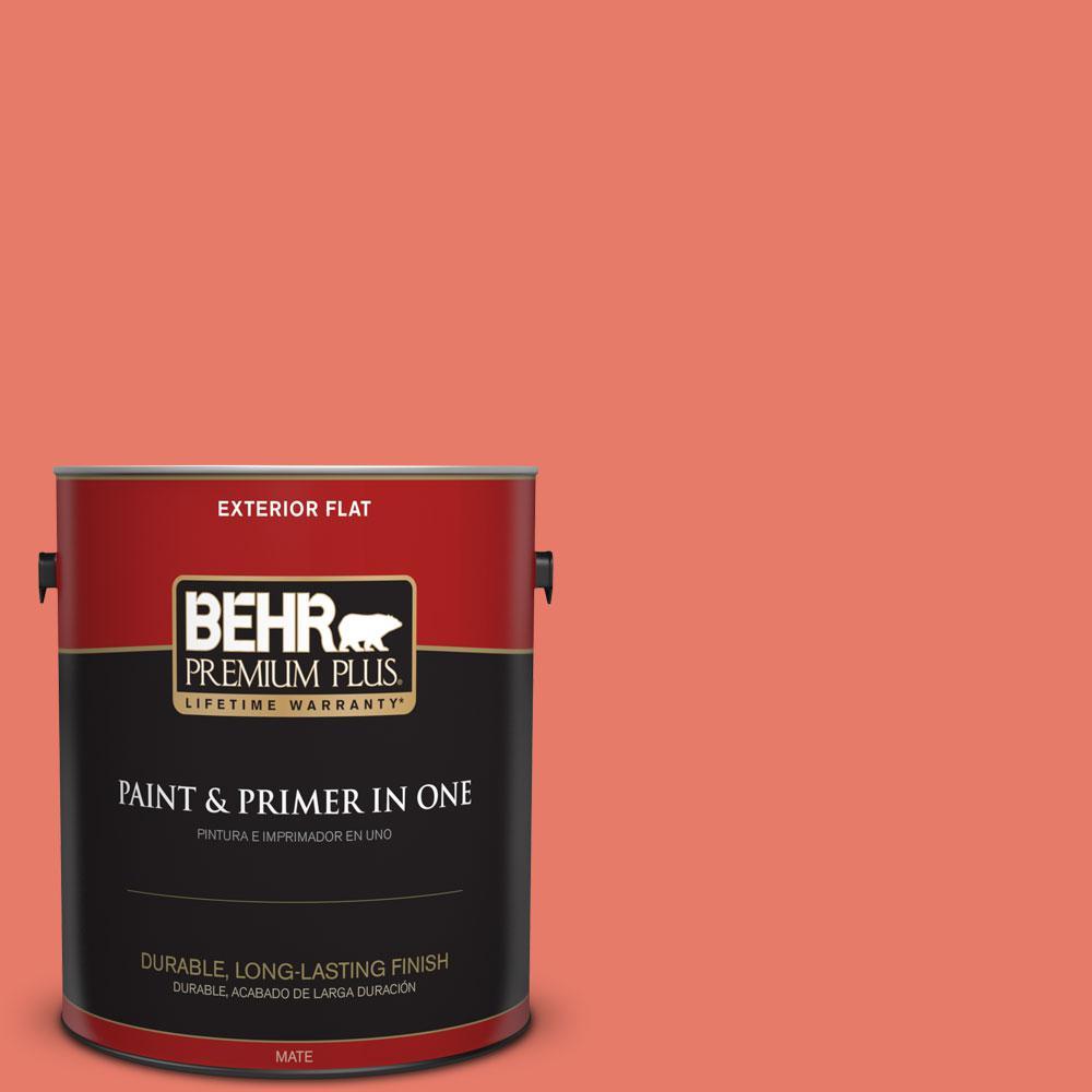 BEHR Premium Plus 1-gal. #P180-5 Watermelon Slice Flat Exterior Paint