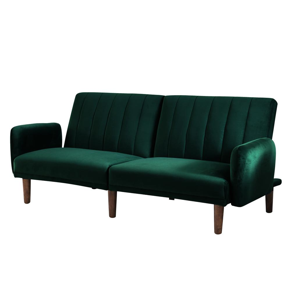 Furniture Of America Jelena Emerald Green Futon