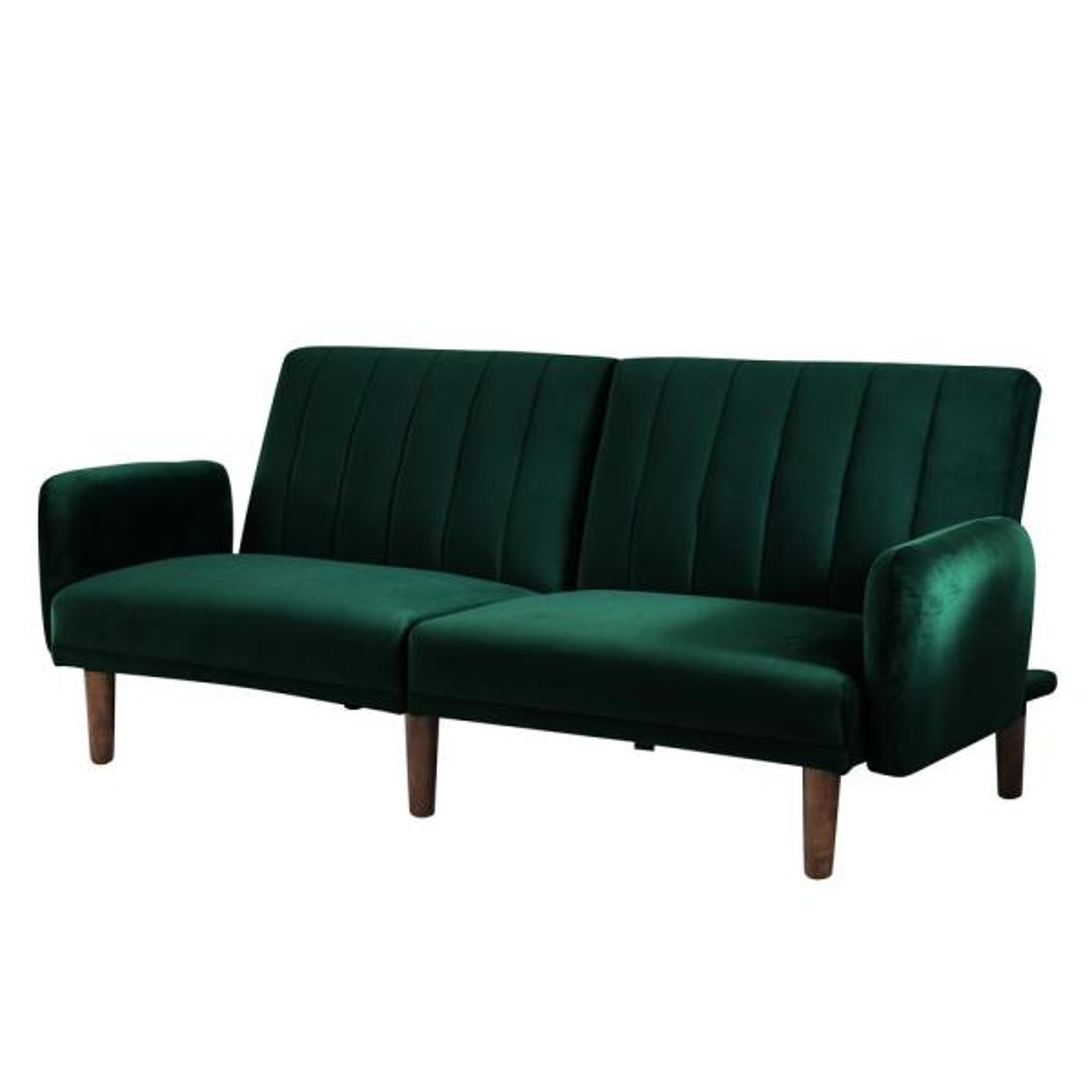 Furniture of America Jelena Emerald Green Futon IDF-2608GR