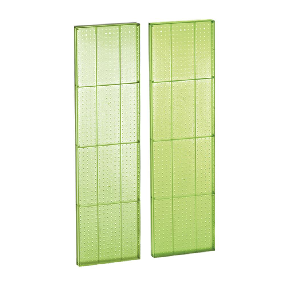 60 In H X 16 In W Pegboard Green Styrene One Sided Panel 2 Pieces Per Box 771660 Gre The Home Depot