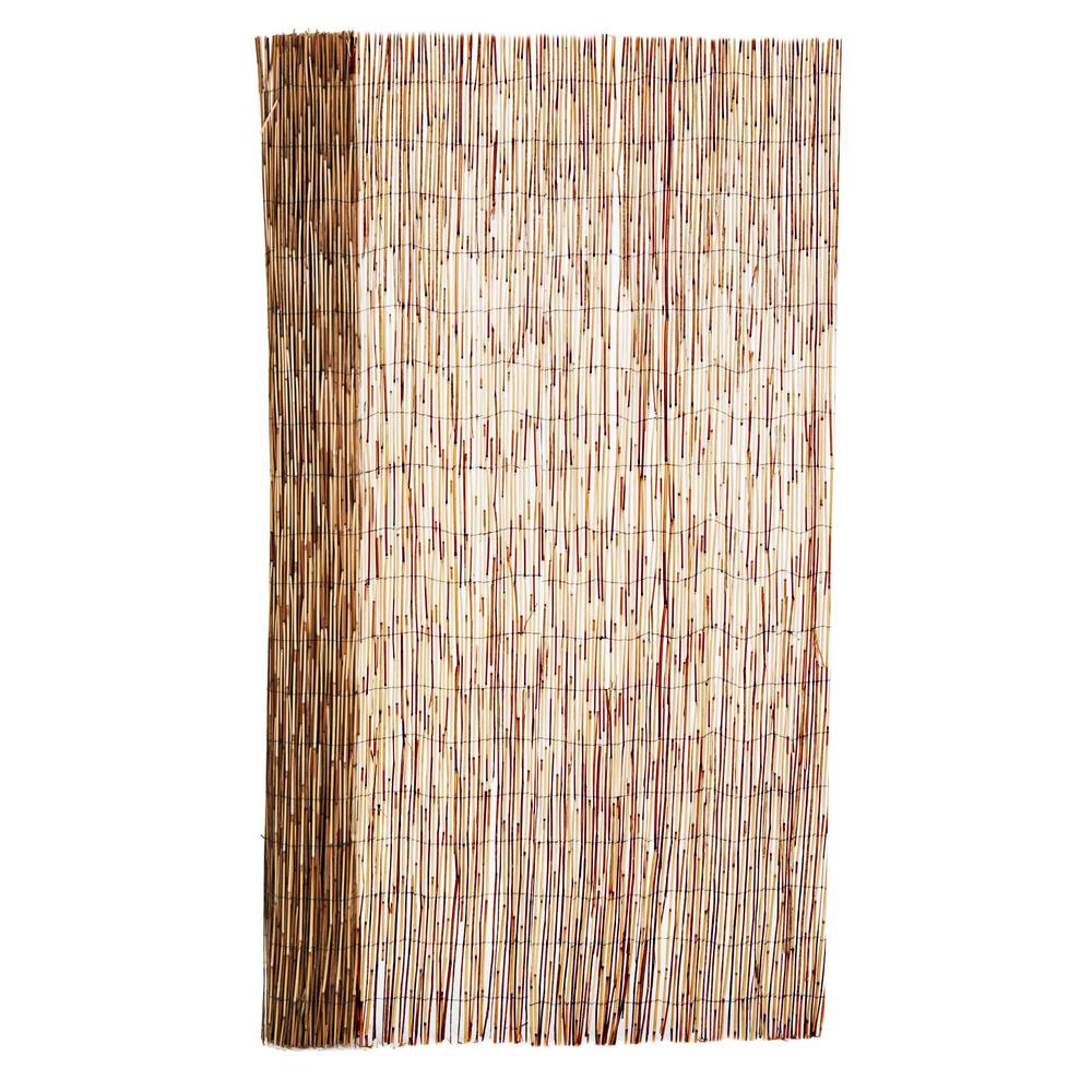 Backyard X-Scapes 6 ft. H x 16 ft. L Bamboo Coffee Peeled Reed Fencing
