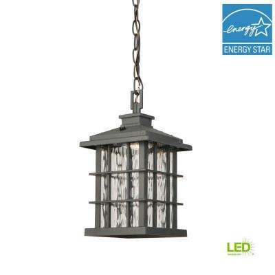 Summit Ridge Collection Zinc Outdoor Integrated LED Hanging Lantern
