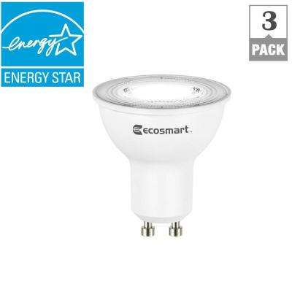 50W Equivalent Bright White MR16 GU10 LED Light Bulb (3-Pack)