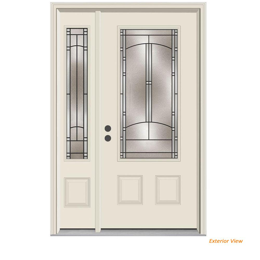 Jeld Wen 52 In X 80 In 34 Lite Idlewild Primed Steel Prehung Left