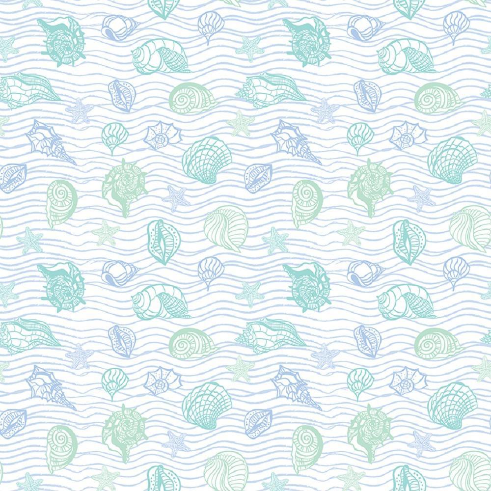 Grip Prints Seaside Teal Shelf and Drawer Liner (Set of 4)