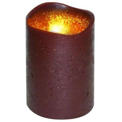 3 in. x 4 in. Flameless Lattice Dark Red Candle