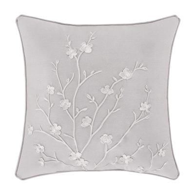 "Cherie Grey 20"" Square Decorative Throw Pillow"