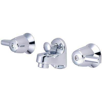 4 in. Centerset 2-Handle Low-Arc Bathroom Faucet in Polished Chrome