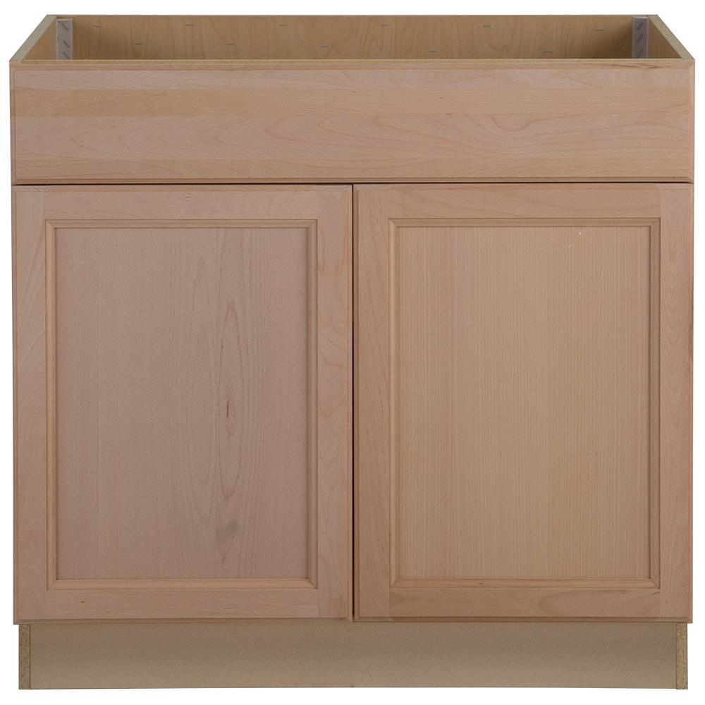 Embled 36x34 5x24 In Easthaven Sink Base Cabinet With False Drawer Front Unfinished German Beech