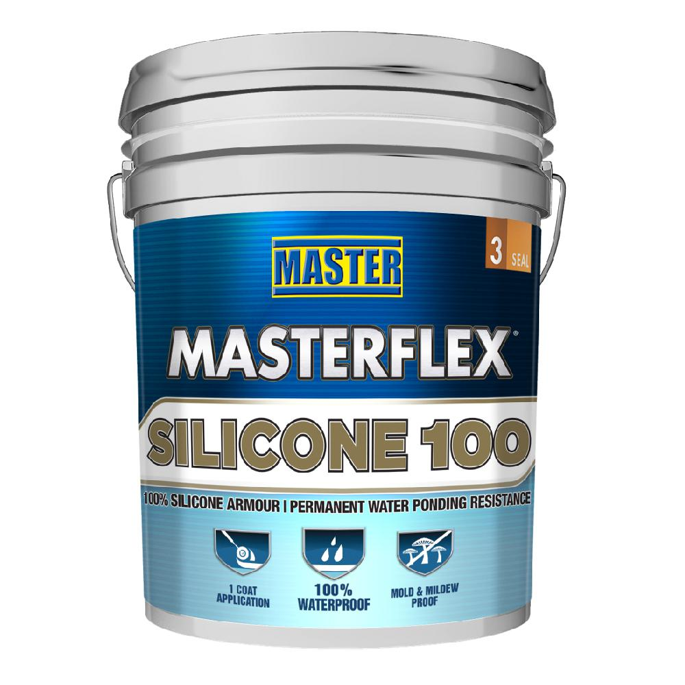Master 4 75 Gal Masterflex Silicone 100 Reflective Roof Coating Vv1251 The Home Depot