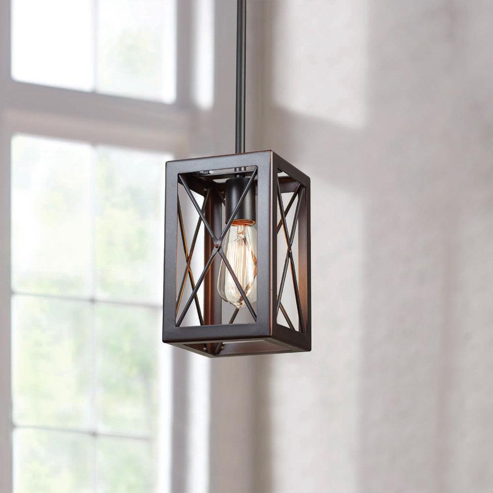Home Decorators Collection 1-Light Royal Bronze Mini-Pendant
