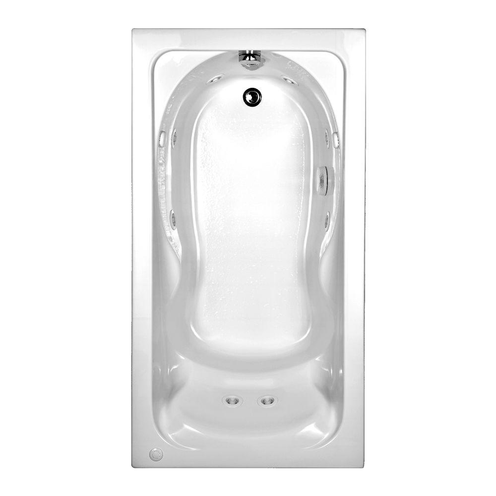 Cadet 60 in. x 32 in. Reversible Drain Whirlpool Tub in