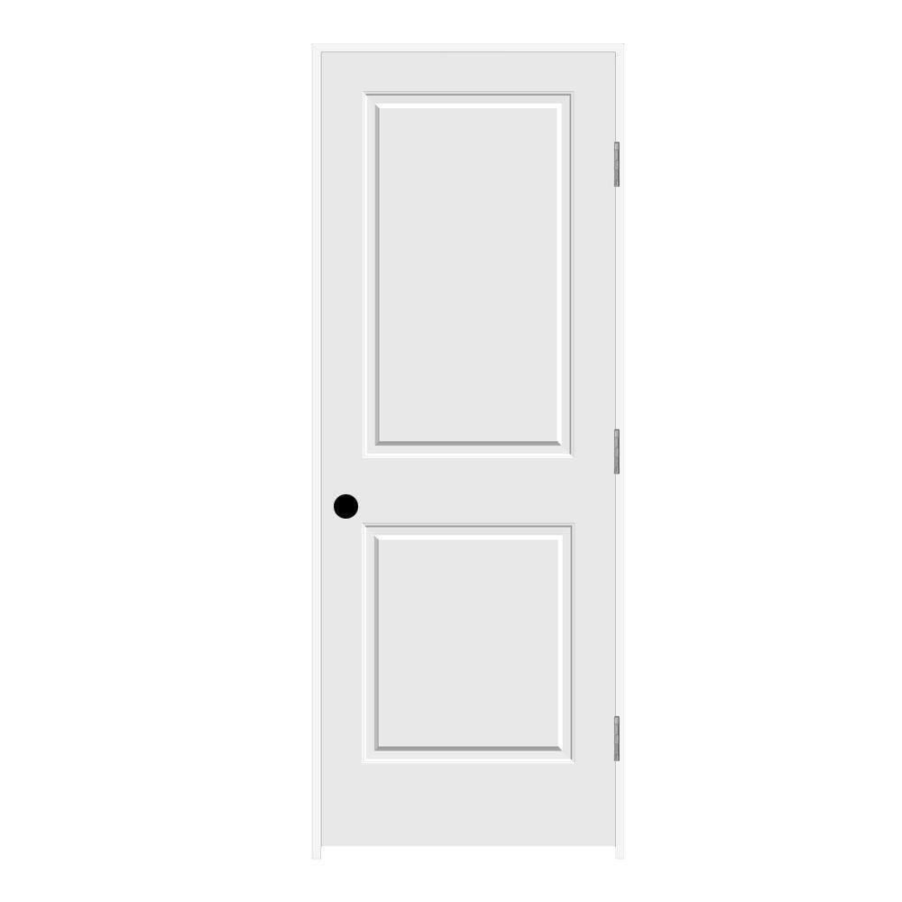 30 in. x 80 in. Primed Left-Hand C2020 2-Panel Square Top