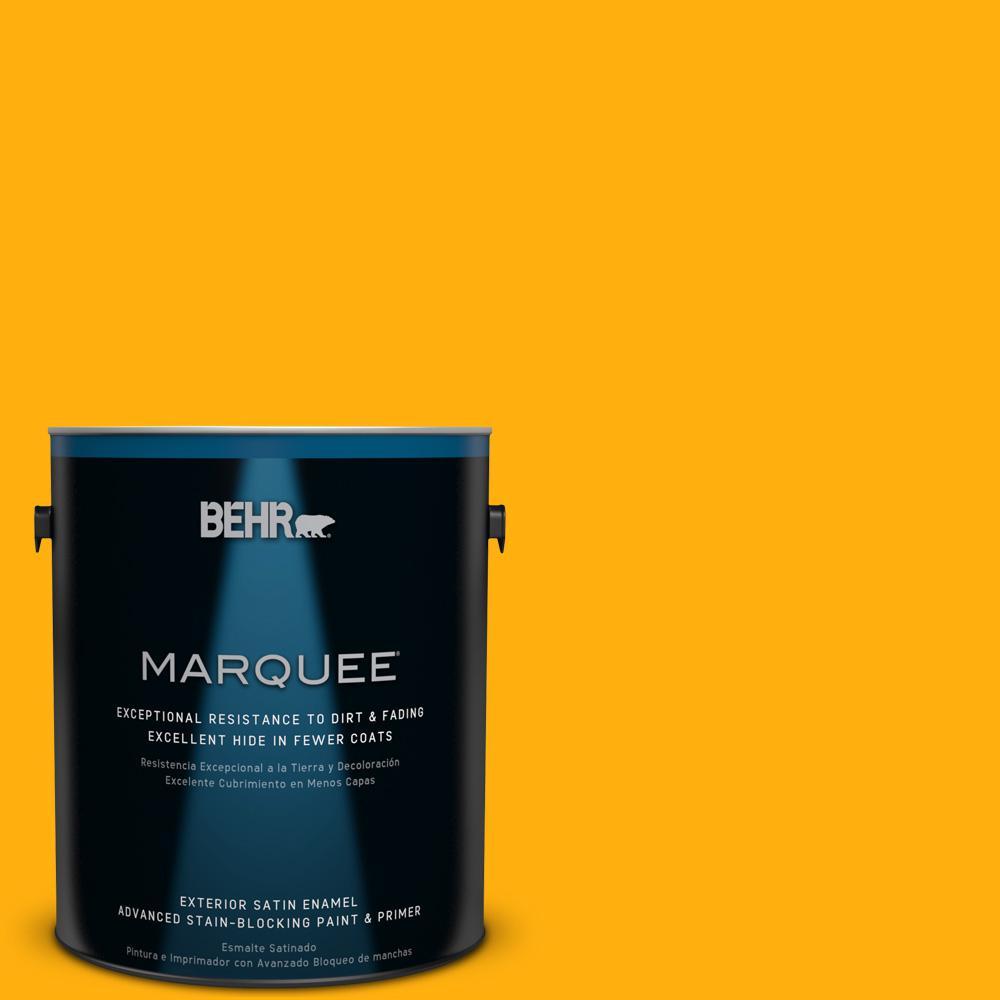 BEHR MARQUEE 1-gal. #310B-7 Saffron Thread Satin Enamel Exterior Paint