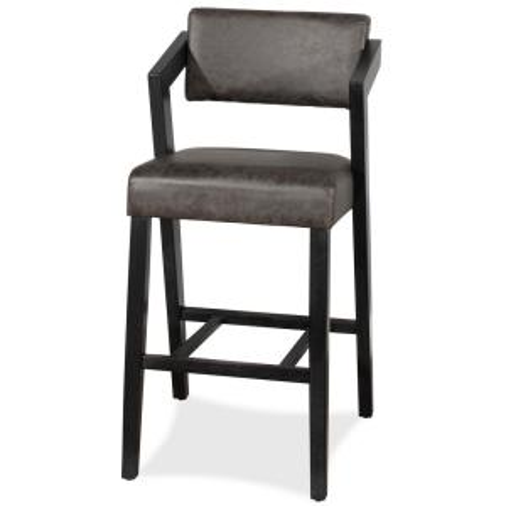 Superb Hillsdale Furniture Snyder 30 In Blackwash Bar Stool 4708 Creativecarmelina Interior Chair Design Creativecarmelinacom