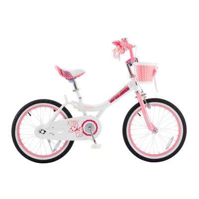 Jenny Princess Pink Girl's Bike with Training Wheels and basket, 18 in. Wheels