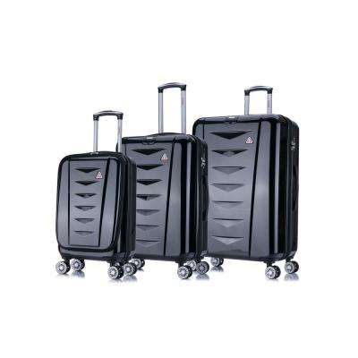 "AirWorld lightweight hardside spinner 3 piece Set 20"", 24"", 28"" Black"