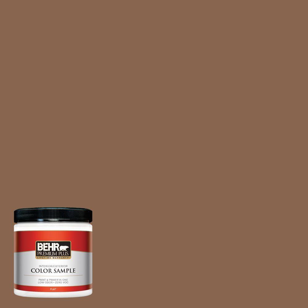 BEHR Premium Plus 8 oz. #S220-7 Molasses Interior/Exterior Paint Sample