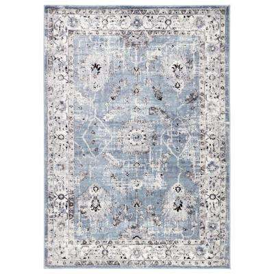 Nieva Blue 5 ft. 3 in. x 7 ft. 6 in. Transitional Area Rug