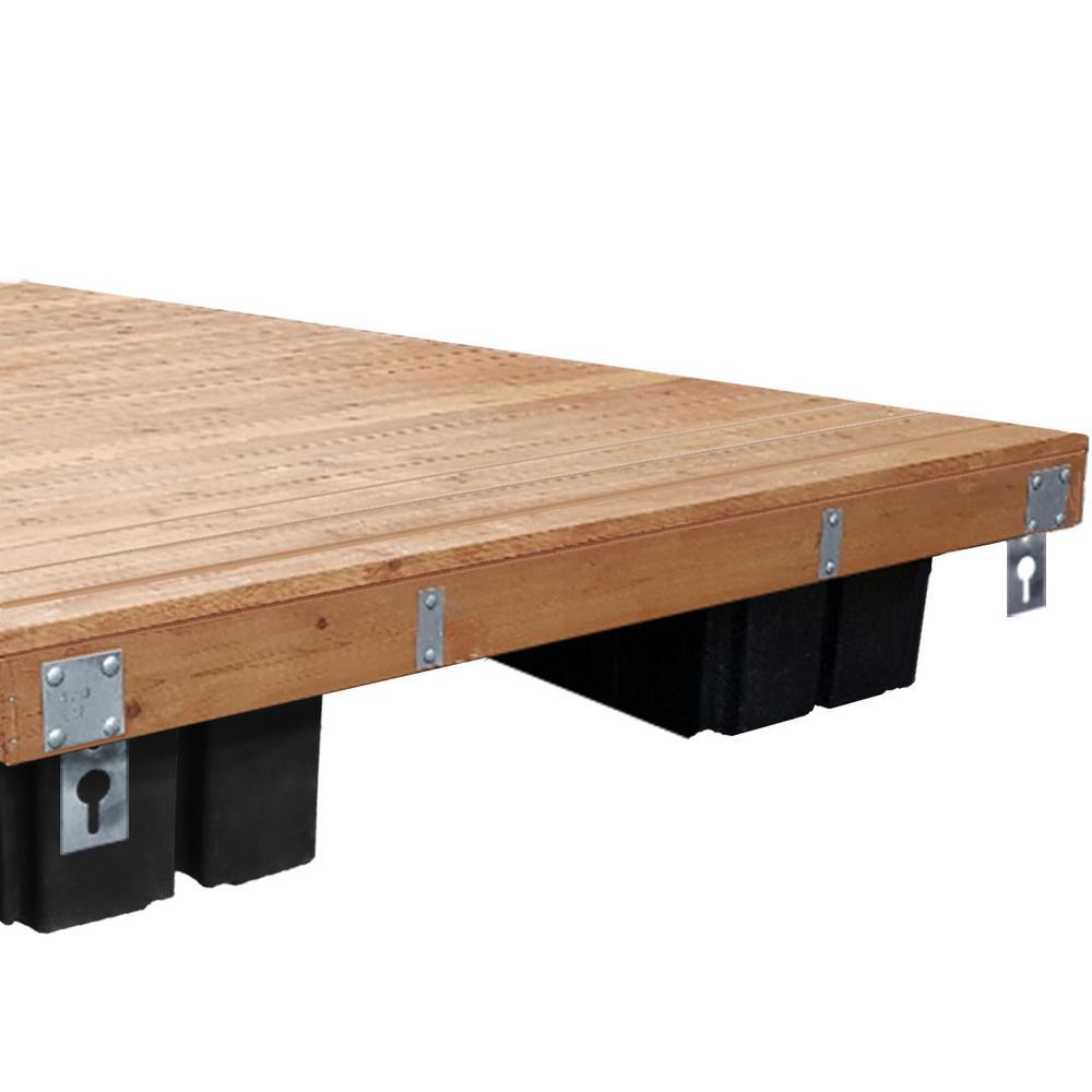 8 ft  x 12 ft , 10 ft  x 12 ft , 6 ft  x 16 ft , 8 ft  x 16 ft  Floating  Wood Dock Kit