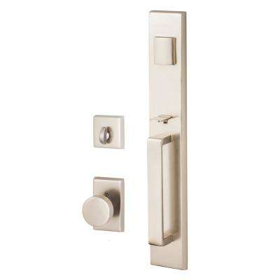 Sure Loc Hardware Vail Nickel Single Cylinder Keyed Entrance Door Handleset With Deadbolt And Escalante Interior Vl507 Es Ni The Home Depot